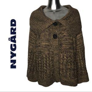 Nygard Plus Size Wool Blend Swing Sweater Brown 3X